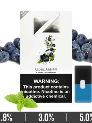 ICED BLUEBERRY ZiiP PODS FOR JUUL DEVICE